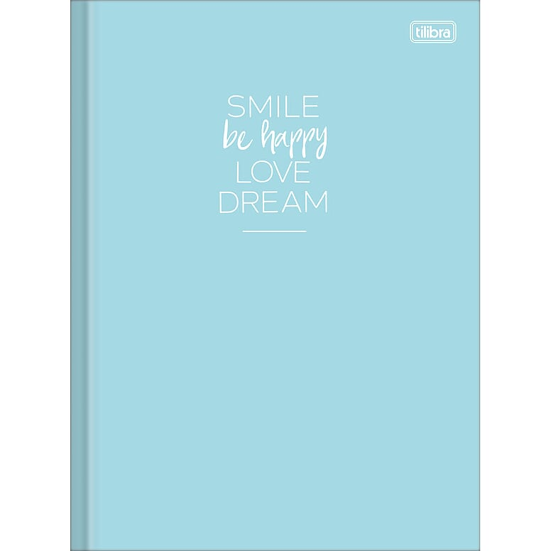 Caderno Brochura Happy 80 Fls Azul