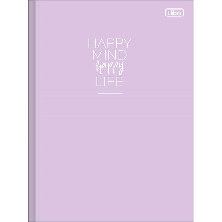 Caderno Brochura Happy 80 Fls Lilás