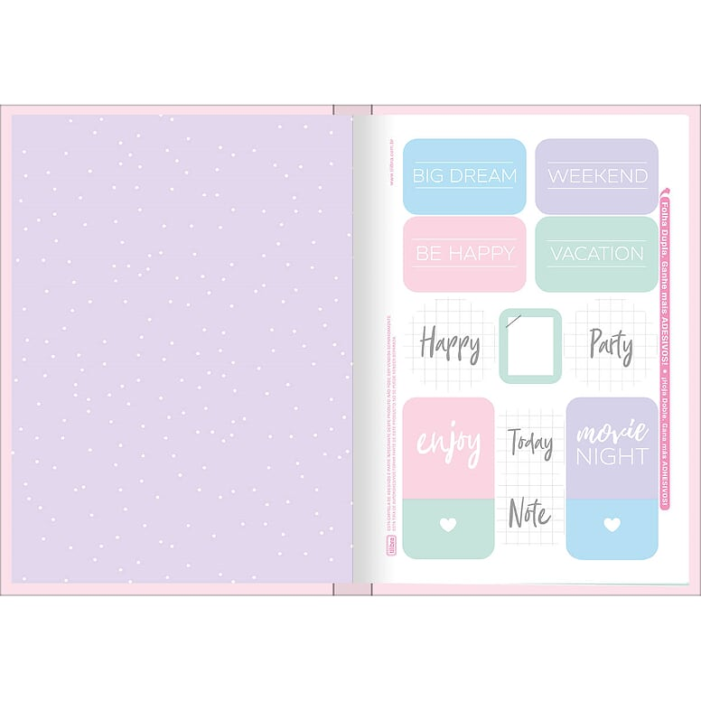 Caderno Brochura Happy 80 Fls Rosa