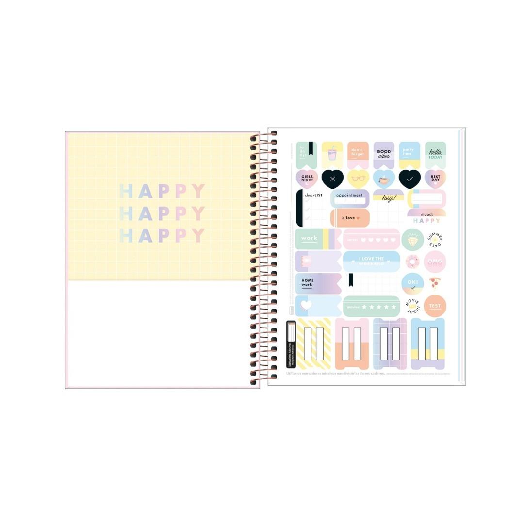 Caderno Colegial 80 fls Happy