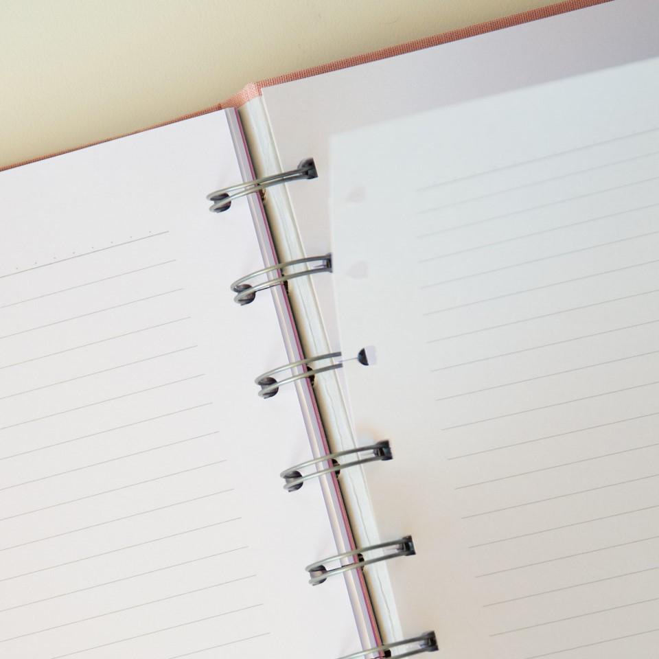 Caderno Cotton Rosa System Flex Grande