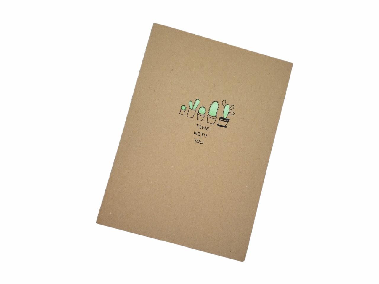Caderno Estampado Cacto