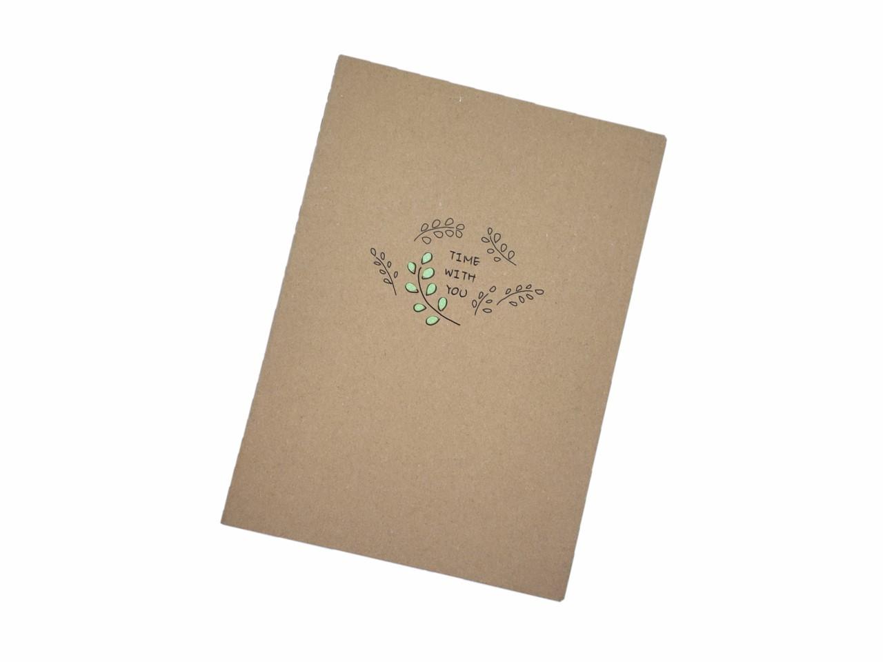 Caderno Estampado Folha