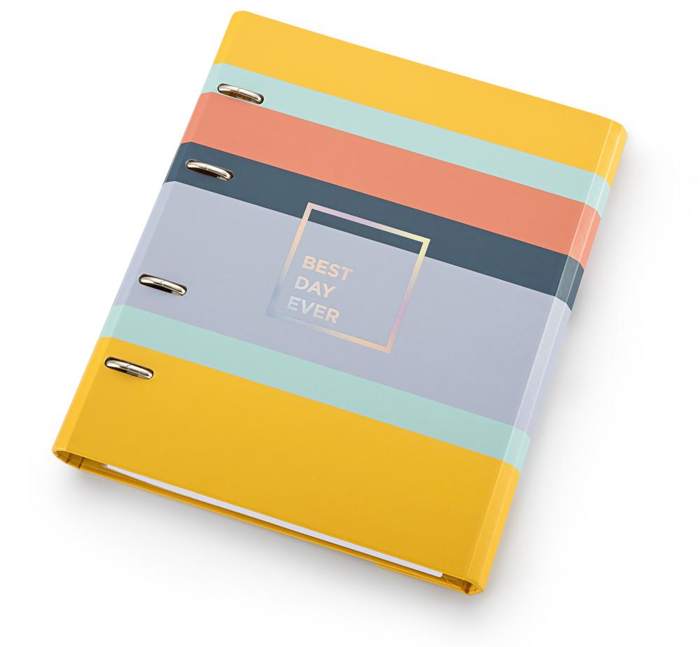 Caderno Fichario Allegro Listrado