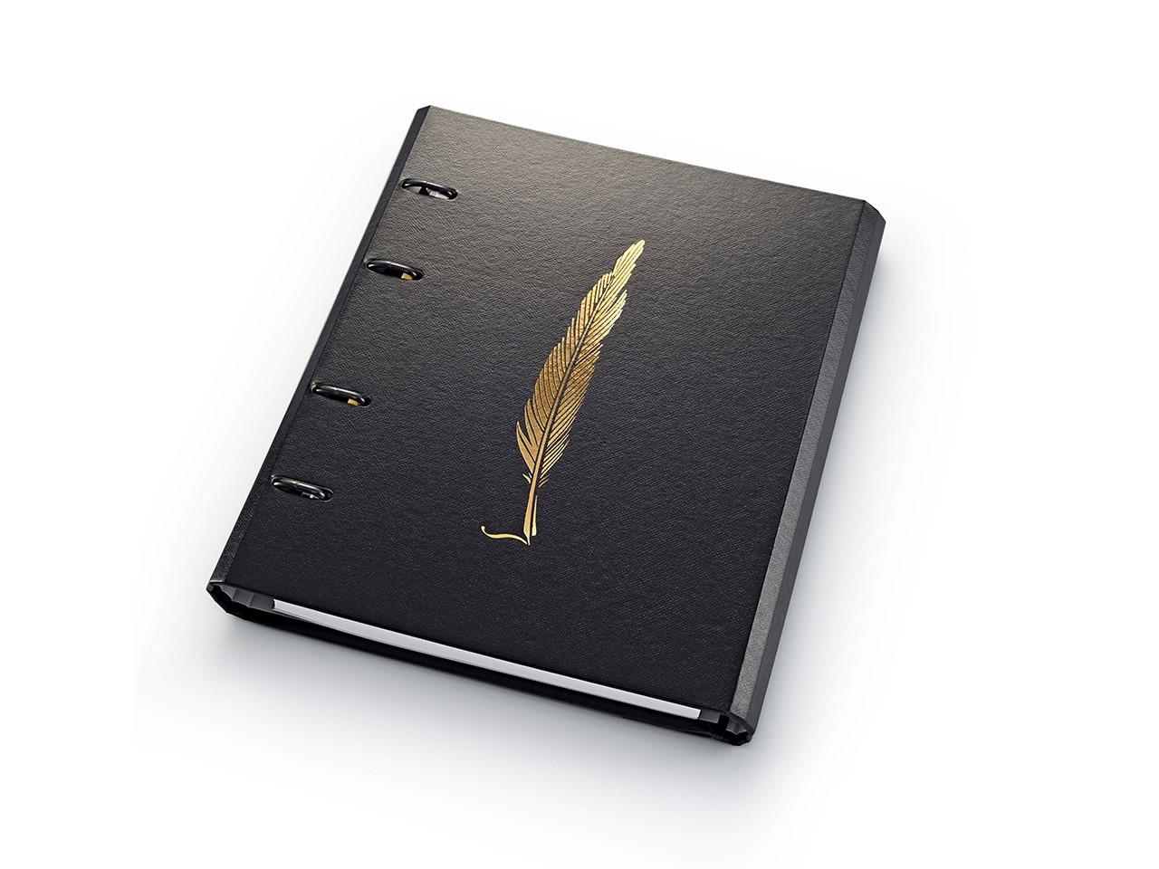 Caderno Fichário Noir