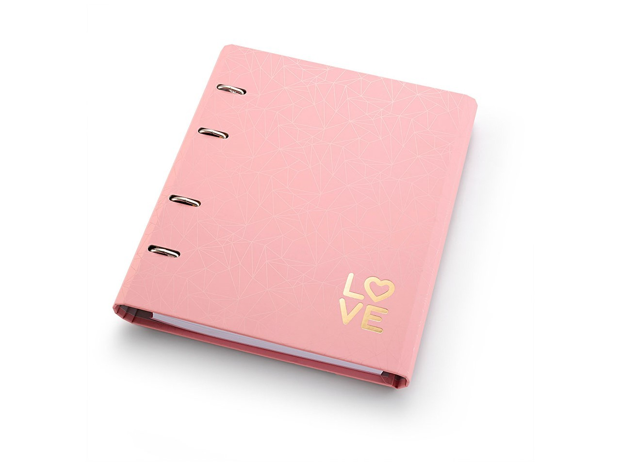 Caderno Fichário Pink Stone Love