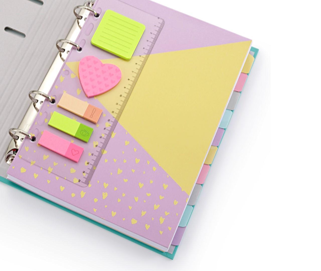 Caderno Fichário Romantic Verde