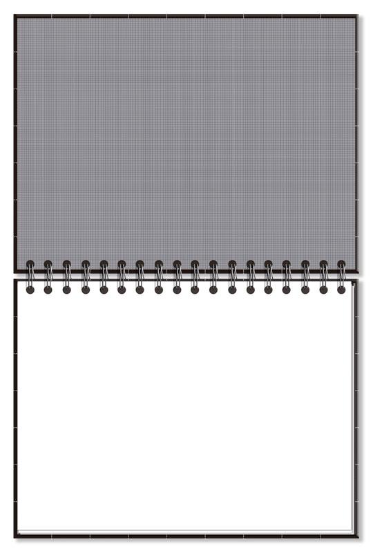 Caderno Lettering fls Brancas Preto Quadriculado
