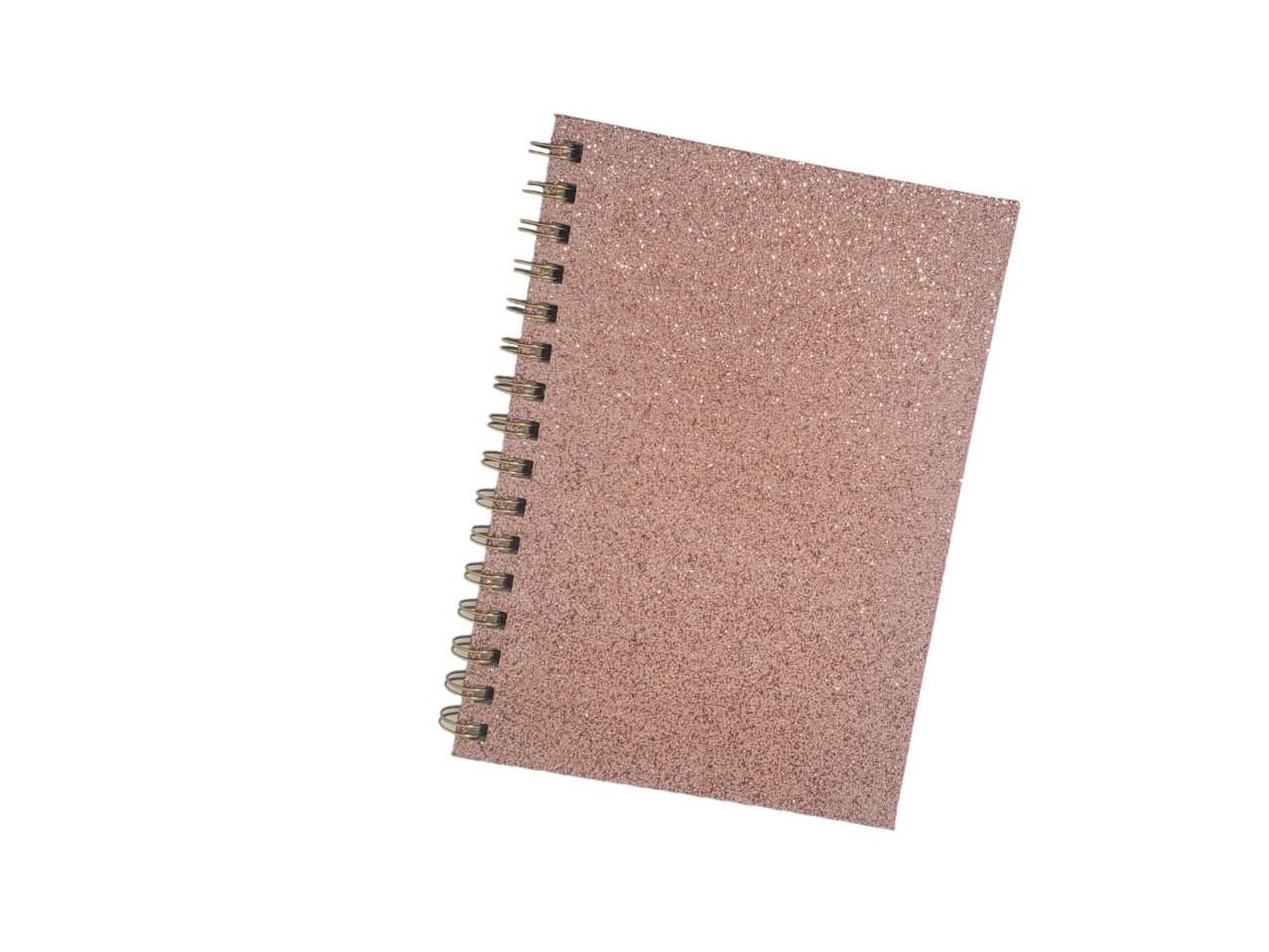 Caderno Pink Glitter
