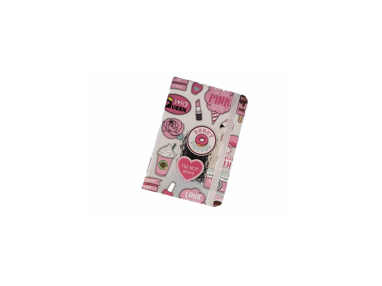 Caderno Prateado Rosa