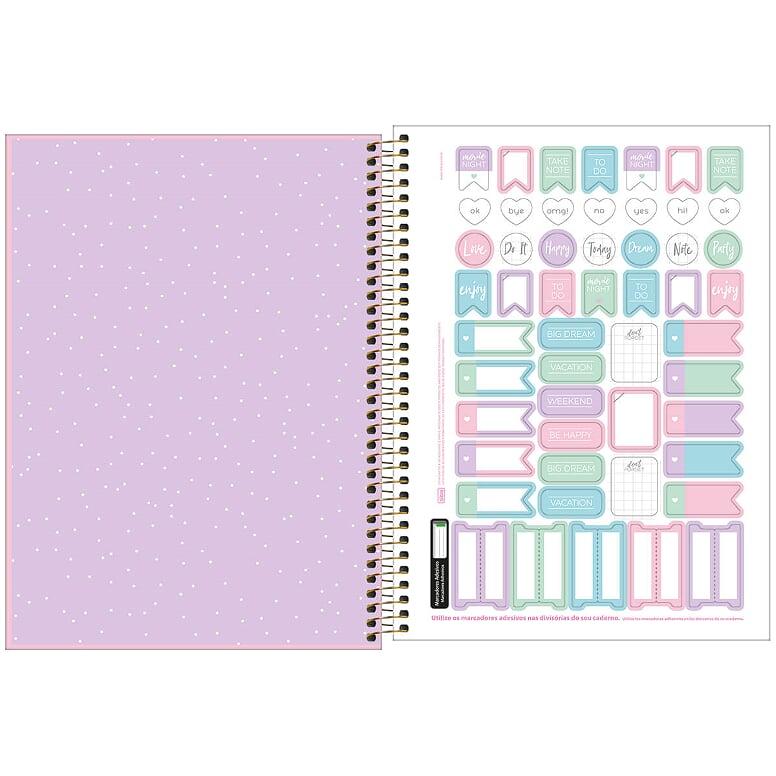 Caderno Universitário 80fls Rosa