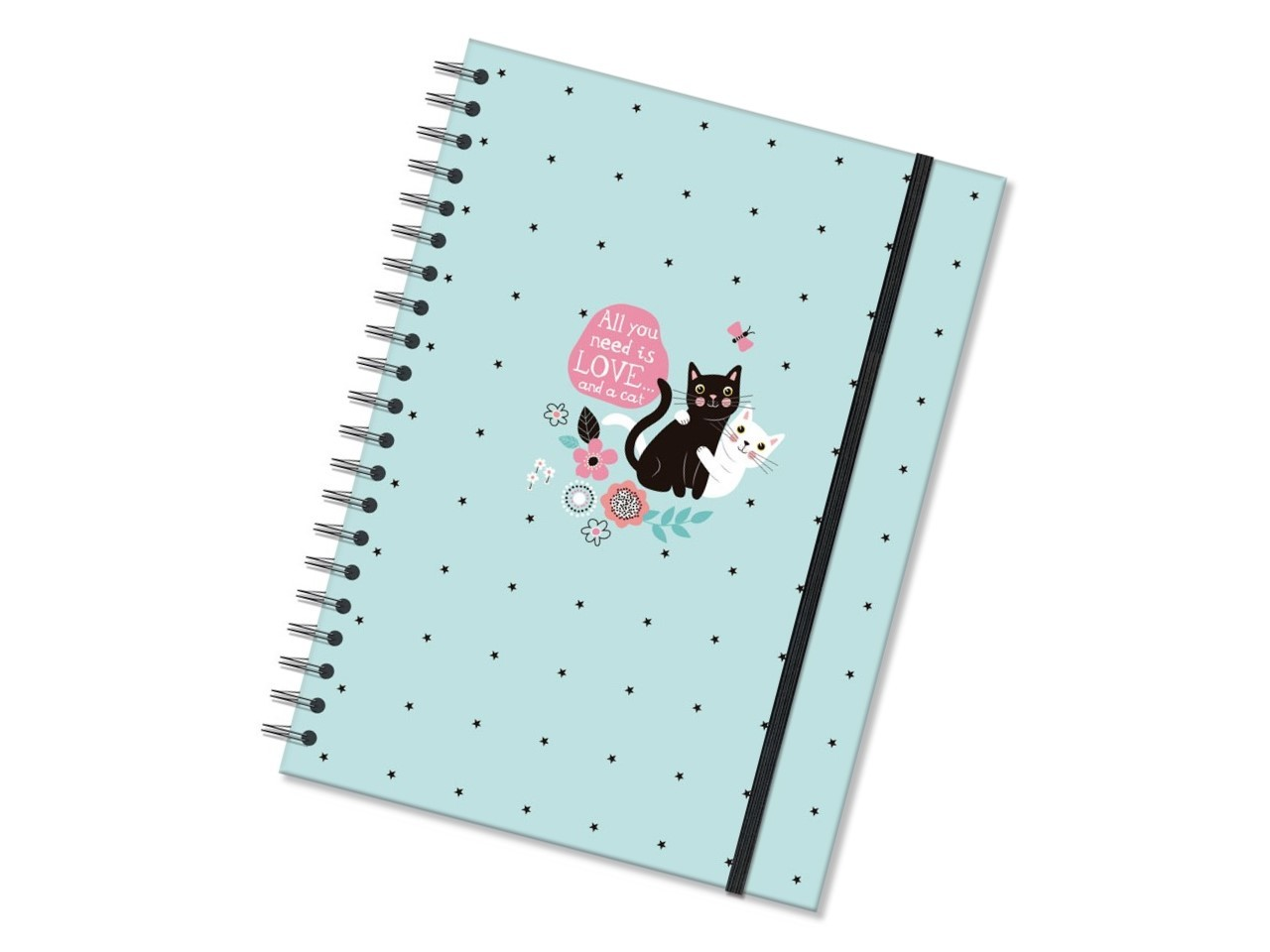 Caderno Universitario 96fls Gatos