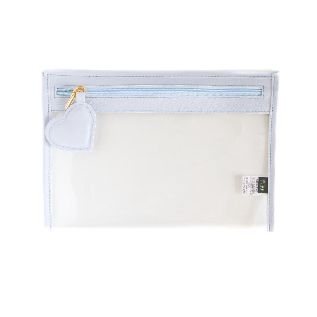 Case Coracao Cristal Azul