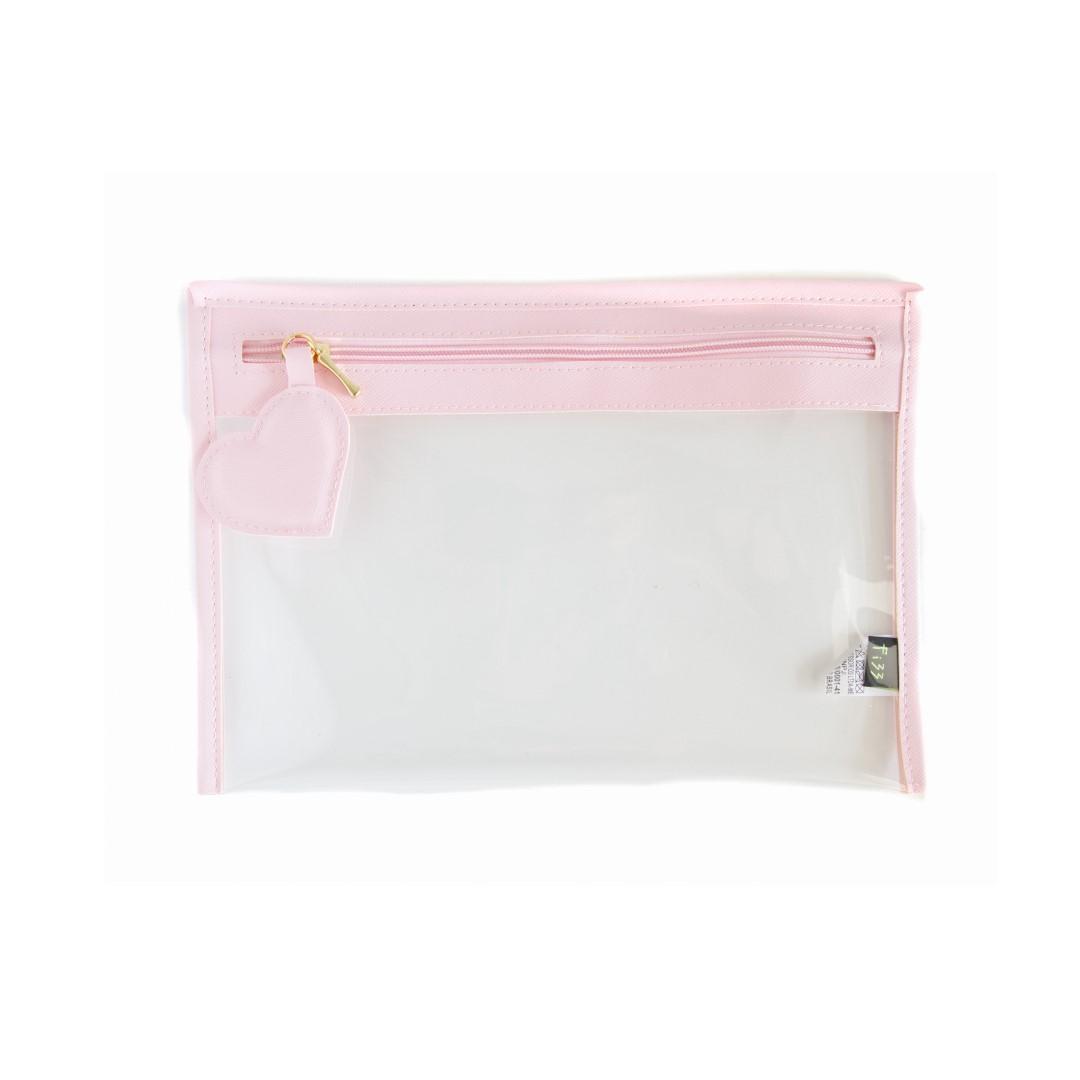 Case Coracao Cristal Rosa