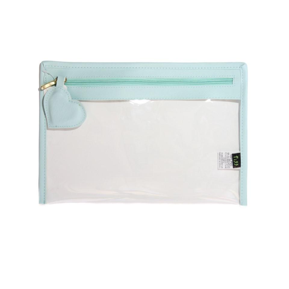 Case Coracao Cristal Verde Agua