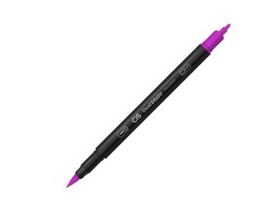 CIS Dual Brush Pen Magenta