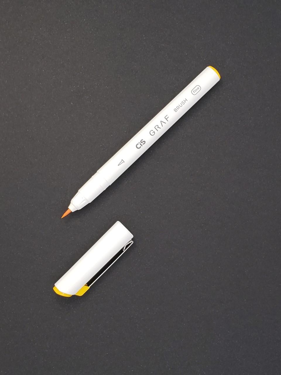 CIS Graf Brush Pen Fine Amarelo