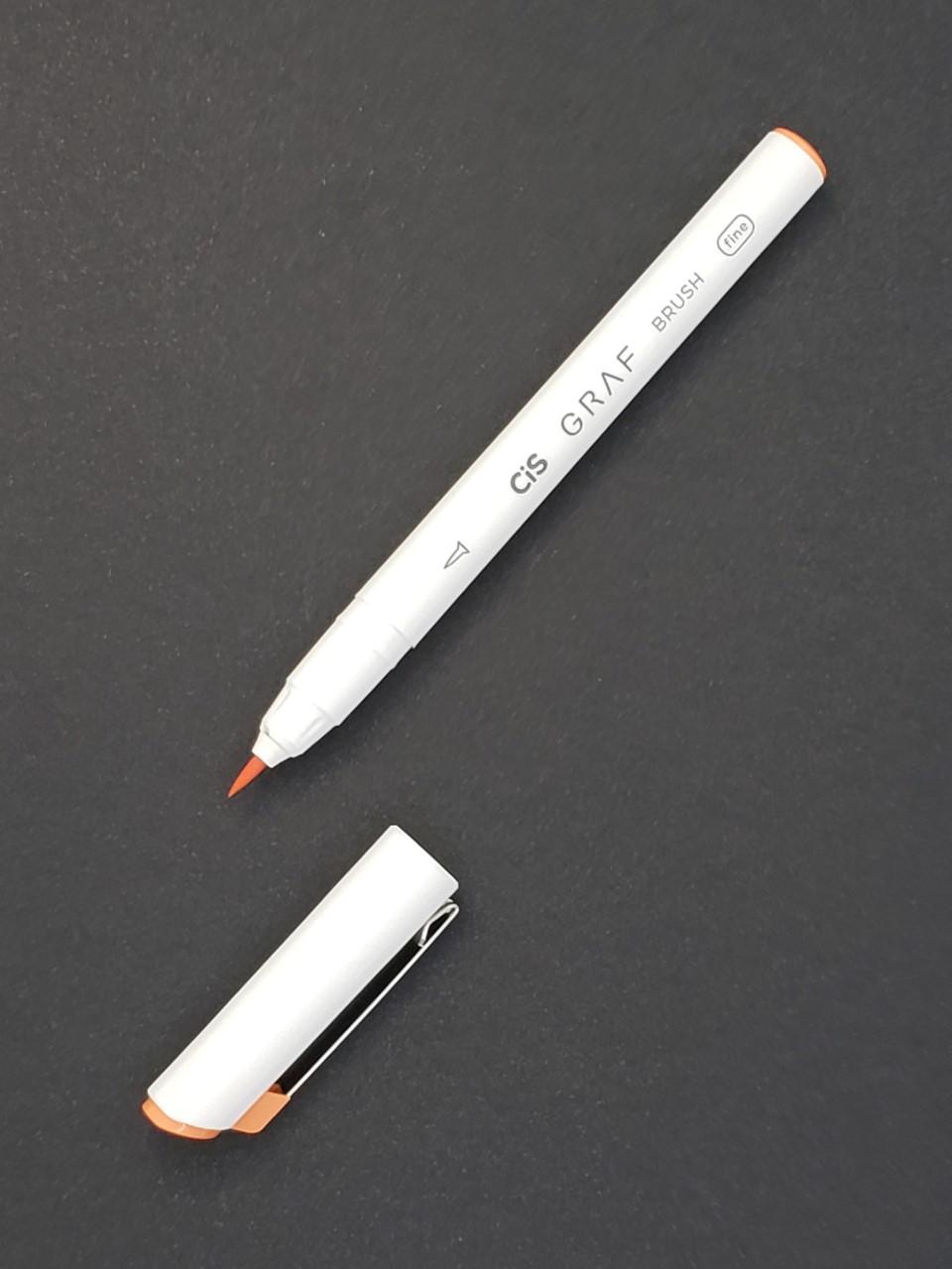 CIS Graf Brush Pen Fine Laranja