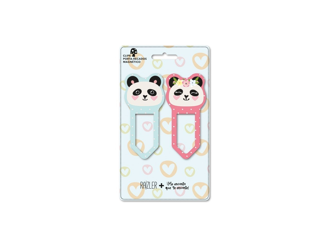 Clips Porta Recado Magnético Panda