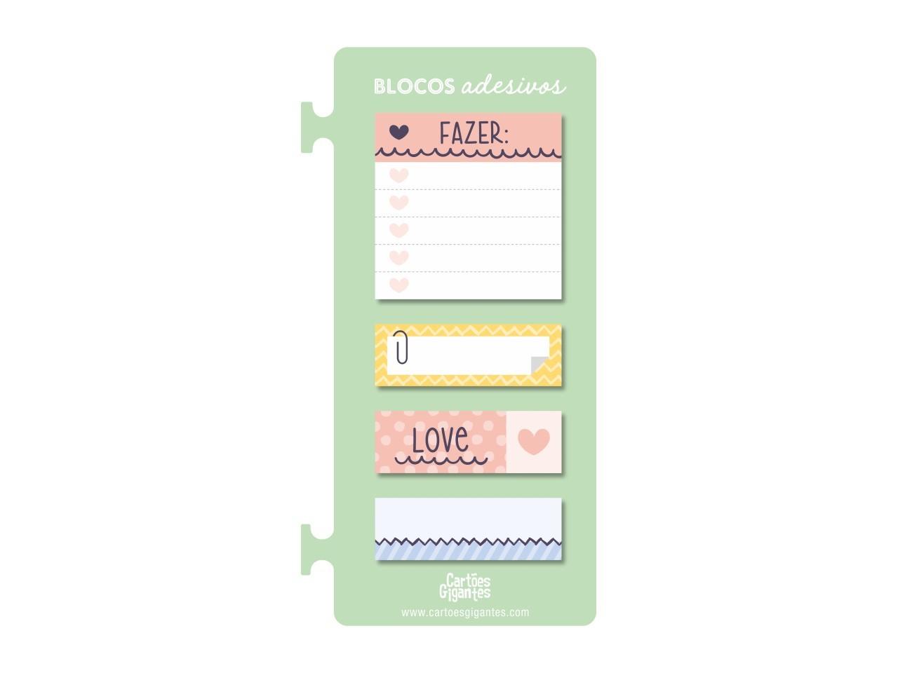 Conjunto 4 Sticky Notes To Do Verde