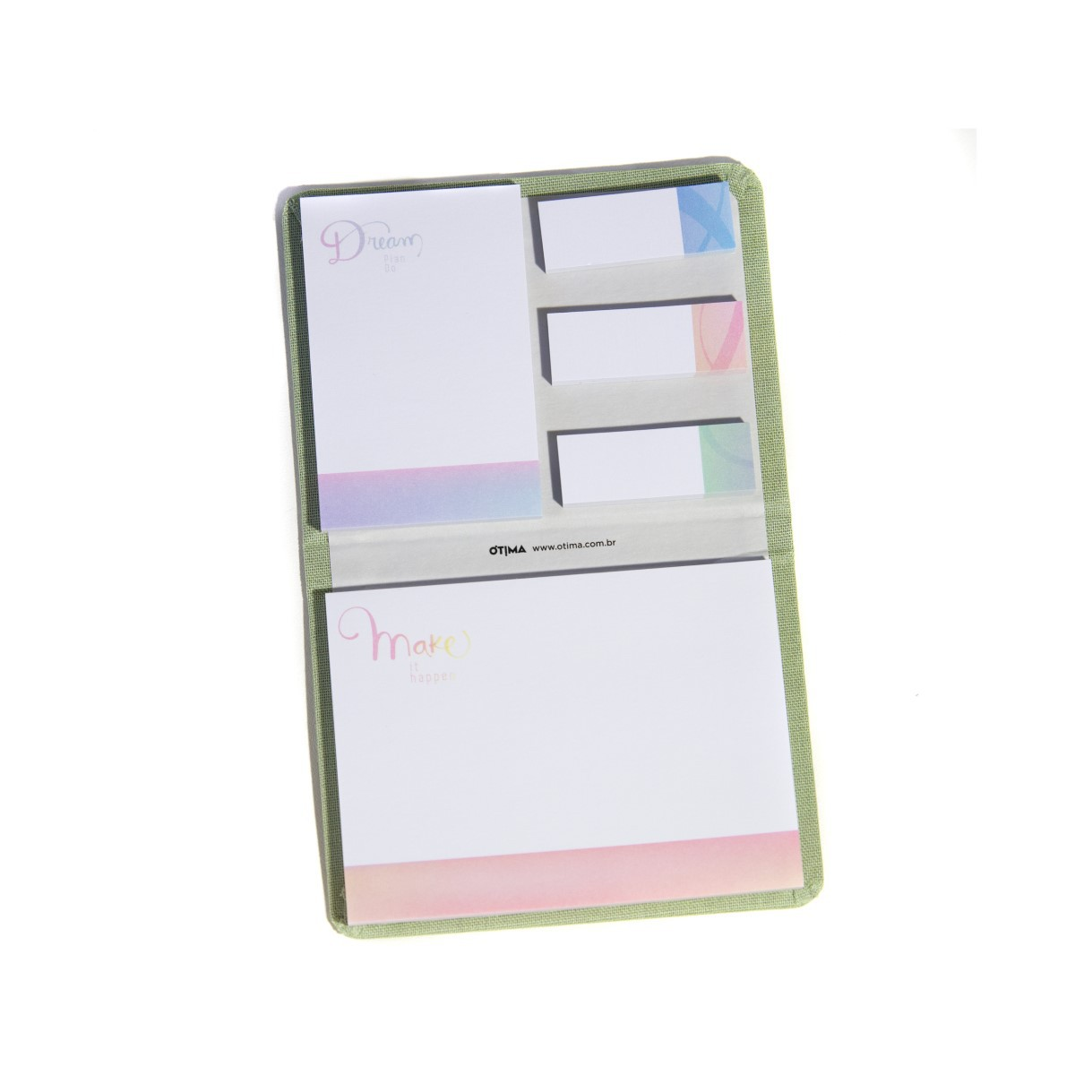 Conjunto 5 Sticky Notes Cotton Verde