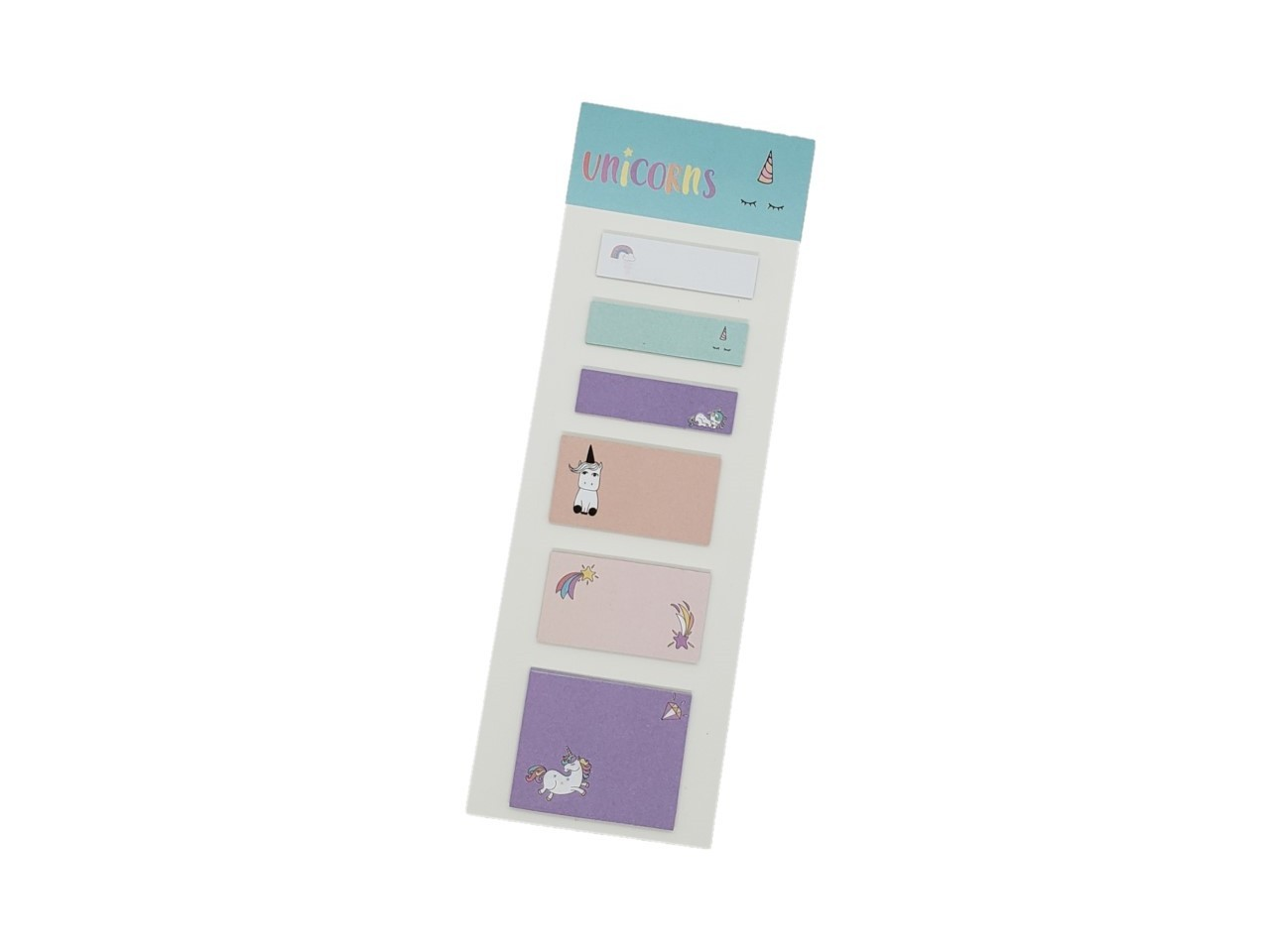Conjunto 6 Sticky Notes Unicornio