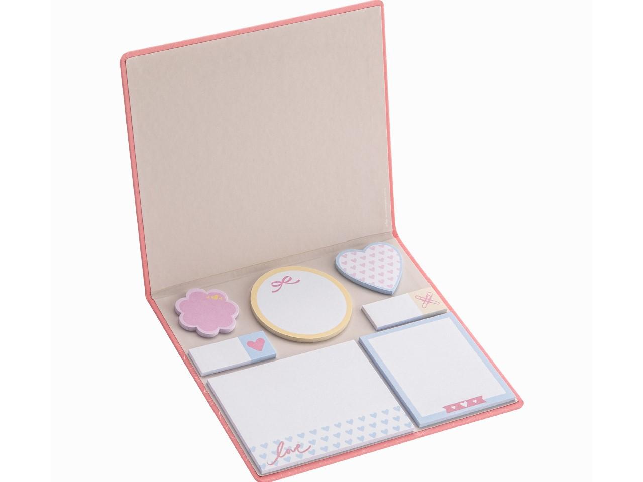 Conjunto 7 Sticky Notes Pink Stone