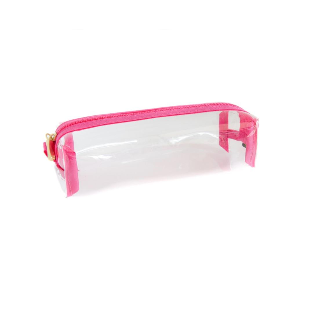 Estojo Bau Cristal Pink