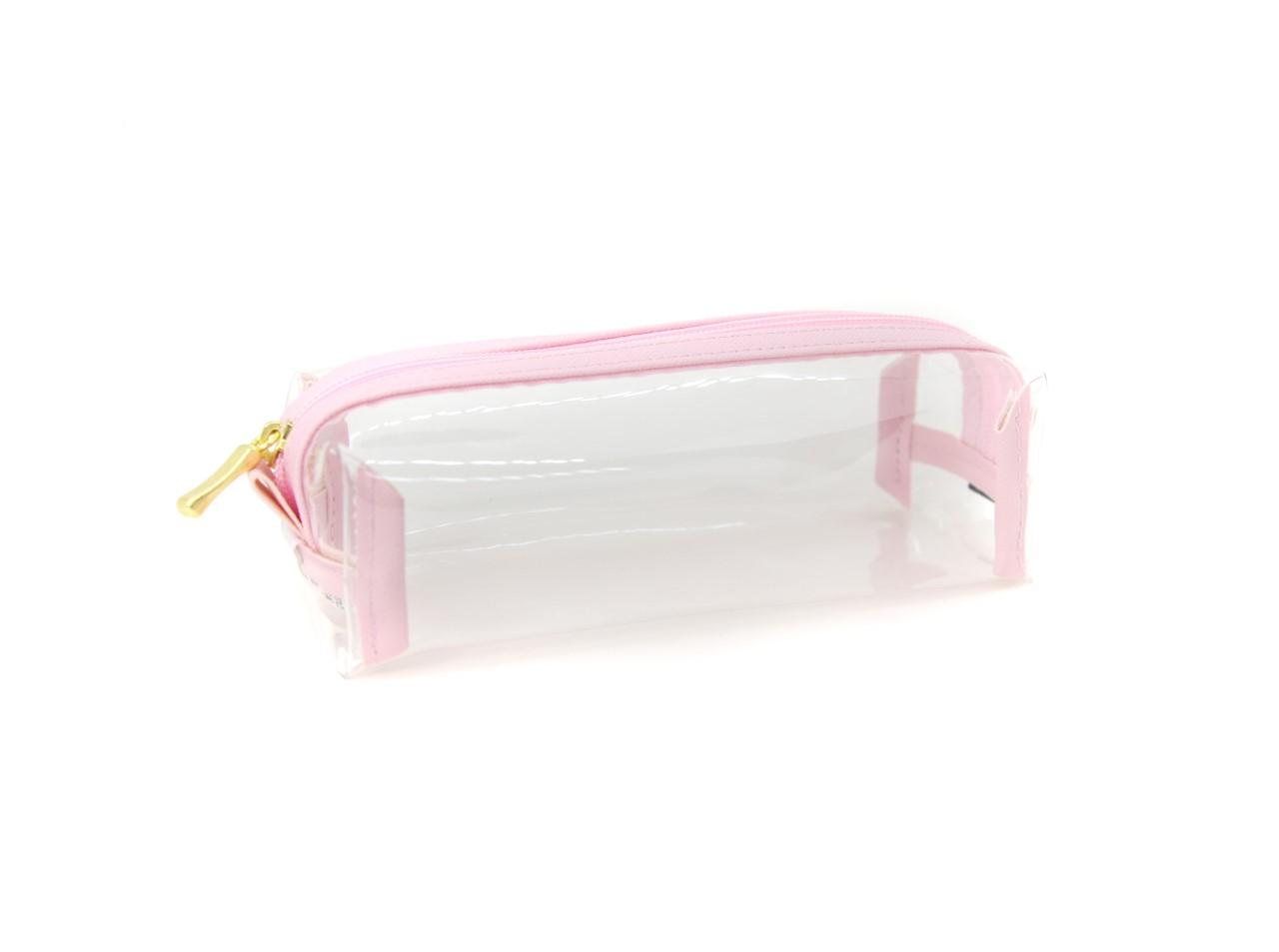 Estojo Bau Cristal Rosa