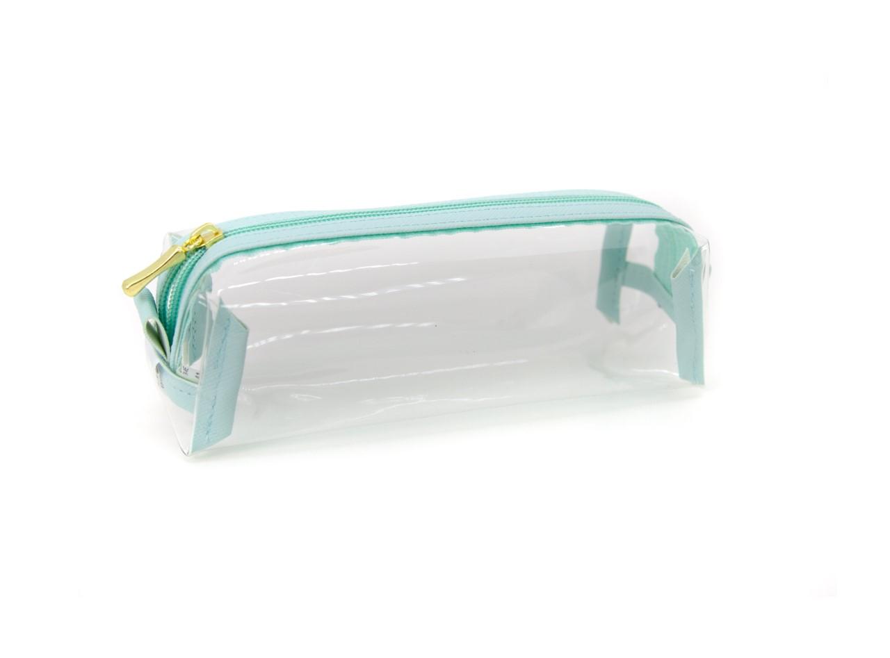 Estojo Bau Cristal Verde Agua