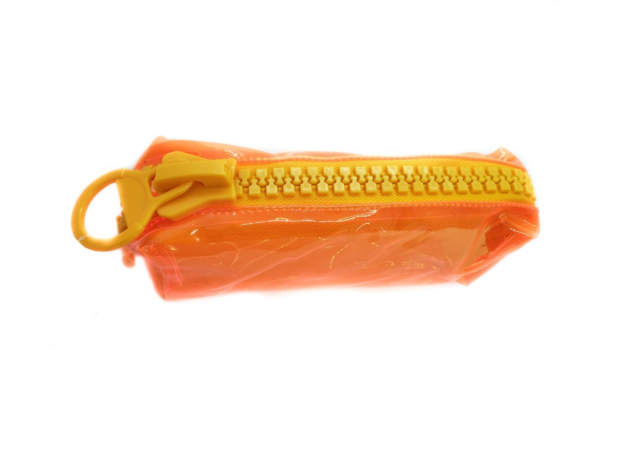Estojo Ziper Laranja Amarelo