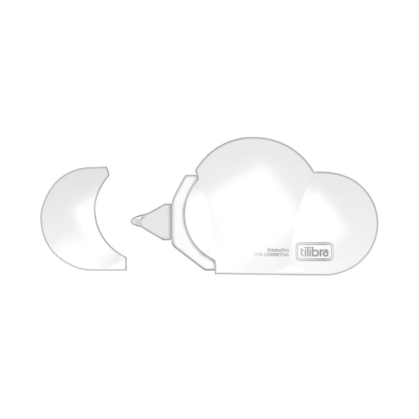 Fita Corretiva Nuvem Diversas Cores - Branco