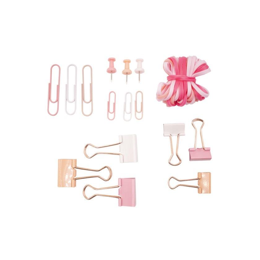 Kit Papelaria Rosa