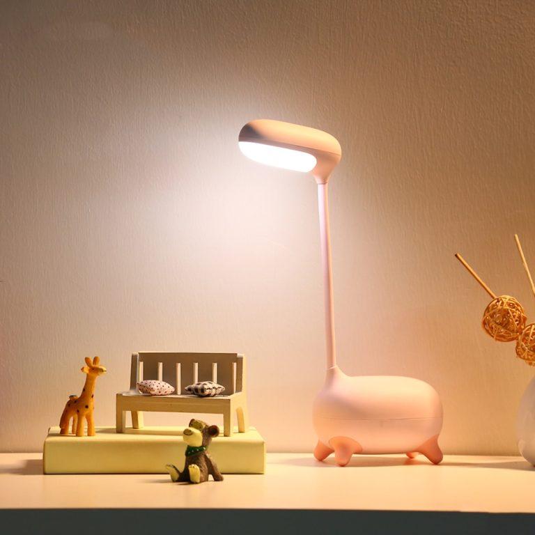 Luminária Girafa Pink Pescoço Regulável