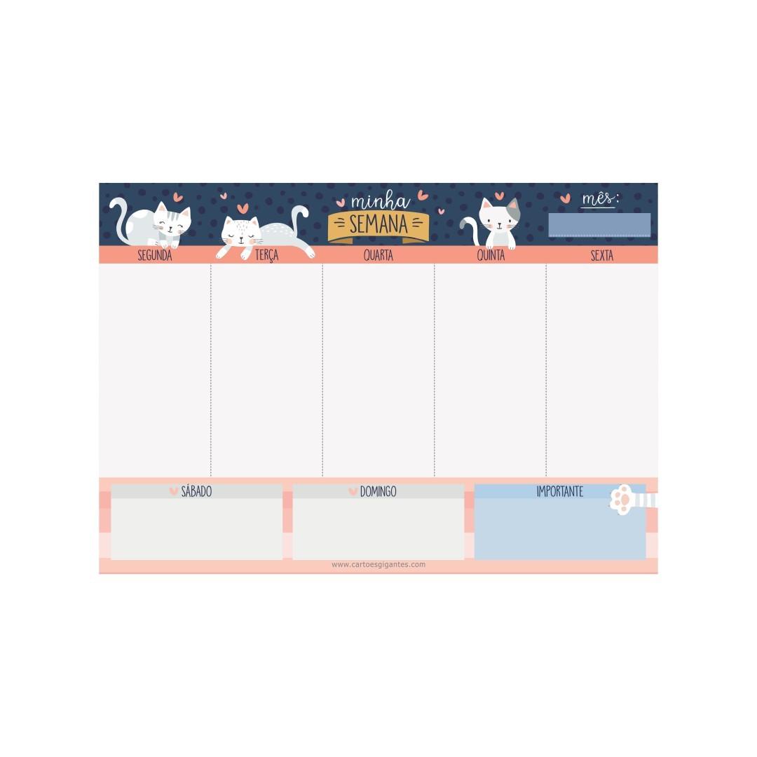 Memo Board Semanal Cats