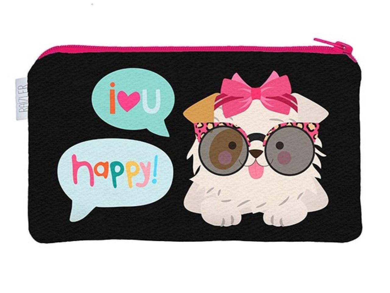 Necessaire Flat P Happy Cachorro
