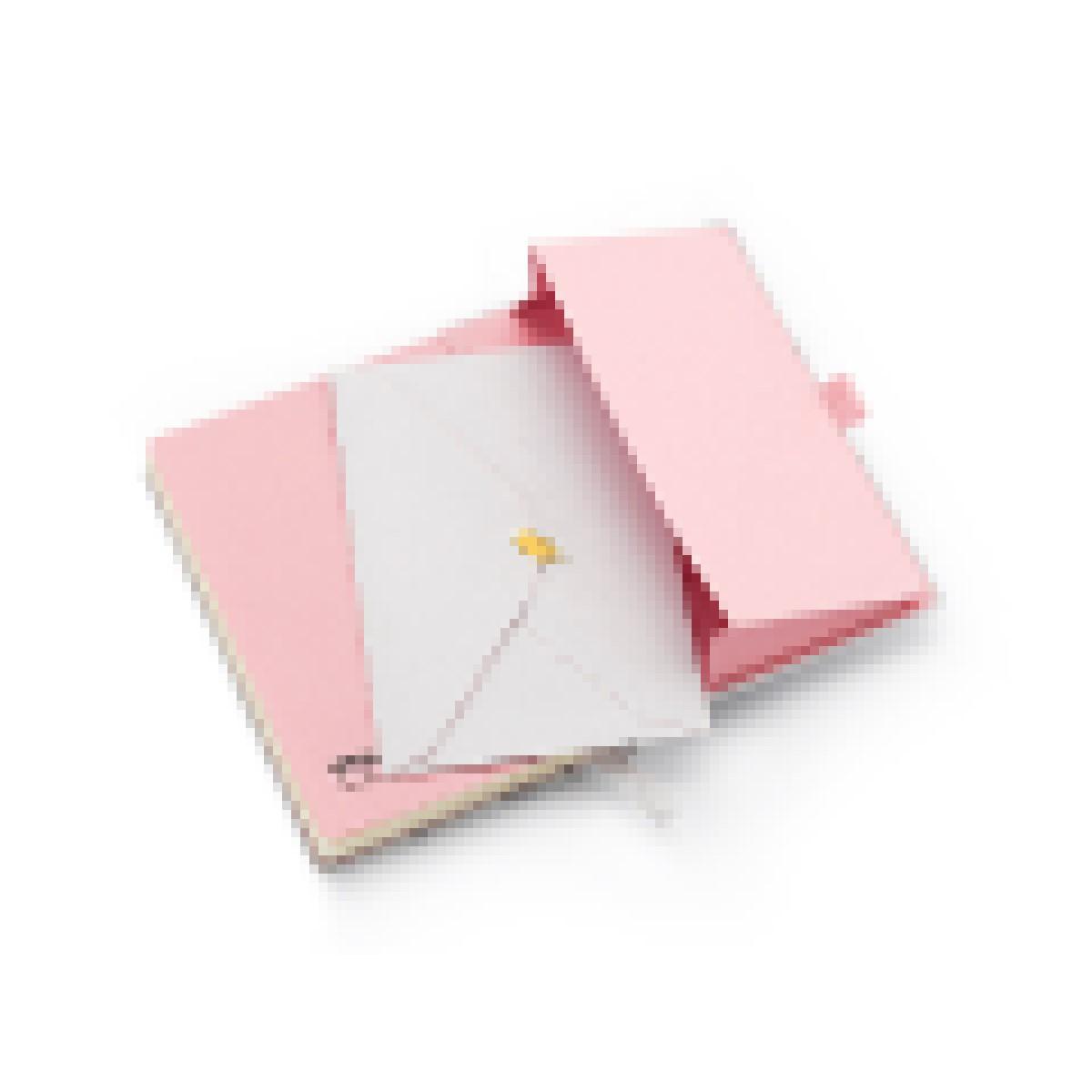 PaperTalk Pink Stone Mini Pautado Mármore