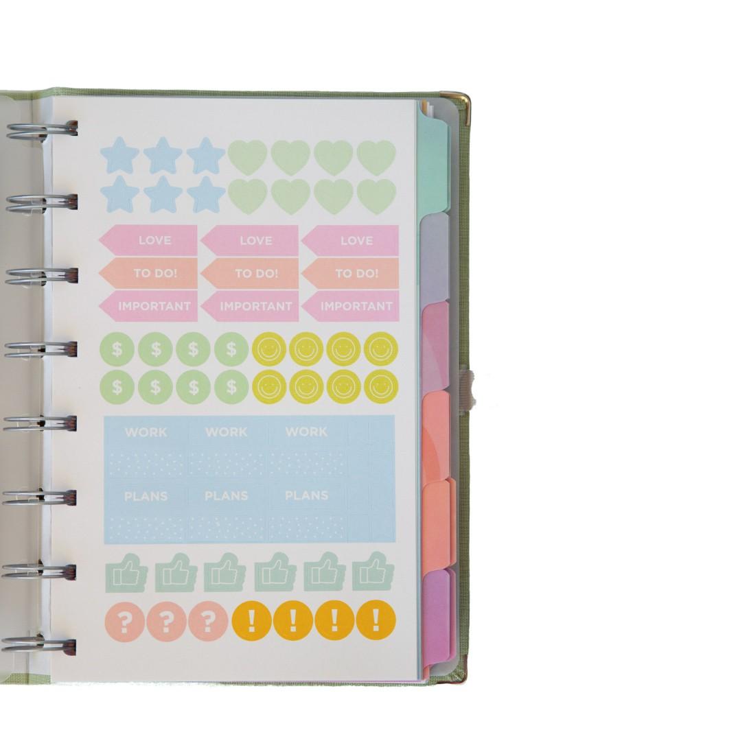 Planner Cotton Rosa System Flex Maxi