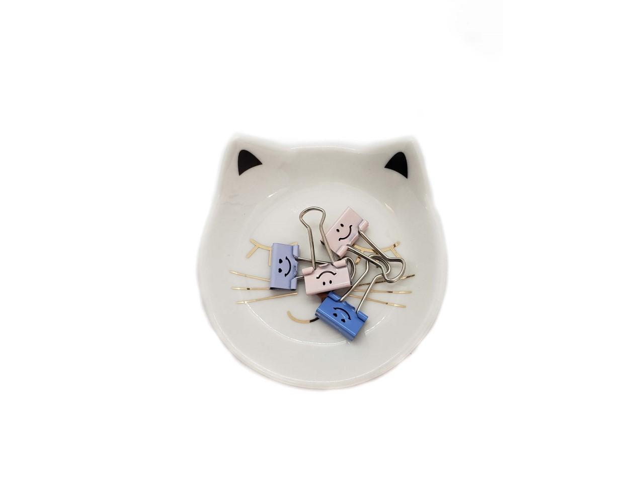 Prato Cerâmica Gatinho Branco