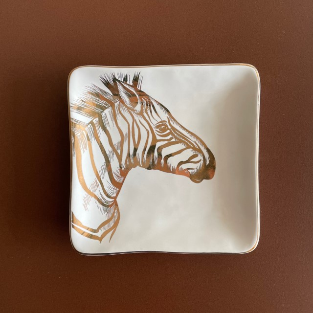 Prato Decorativo Animal Print Zebra