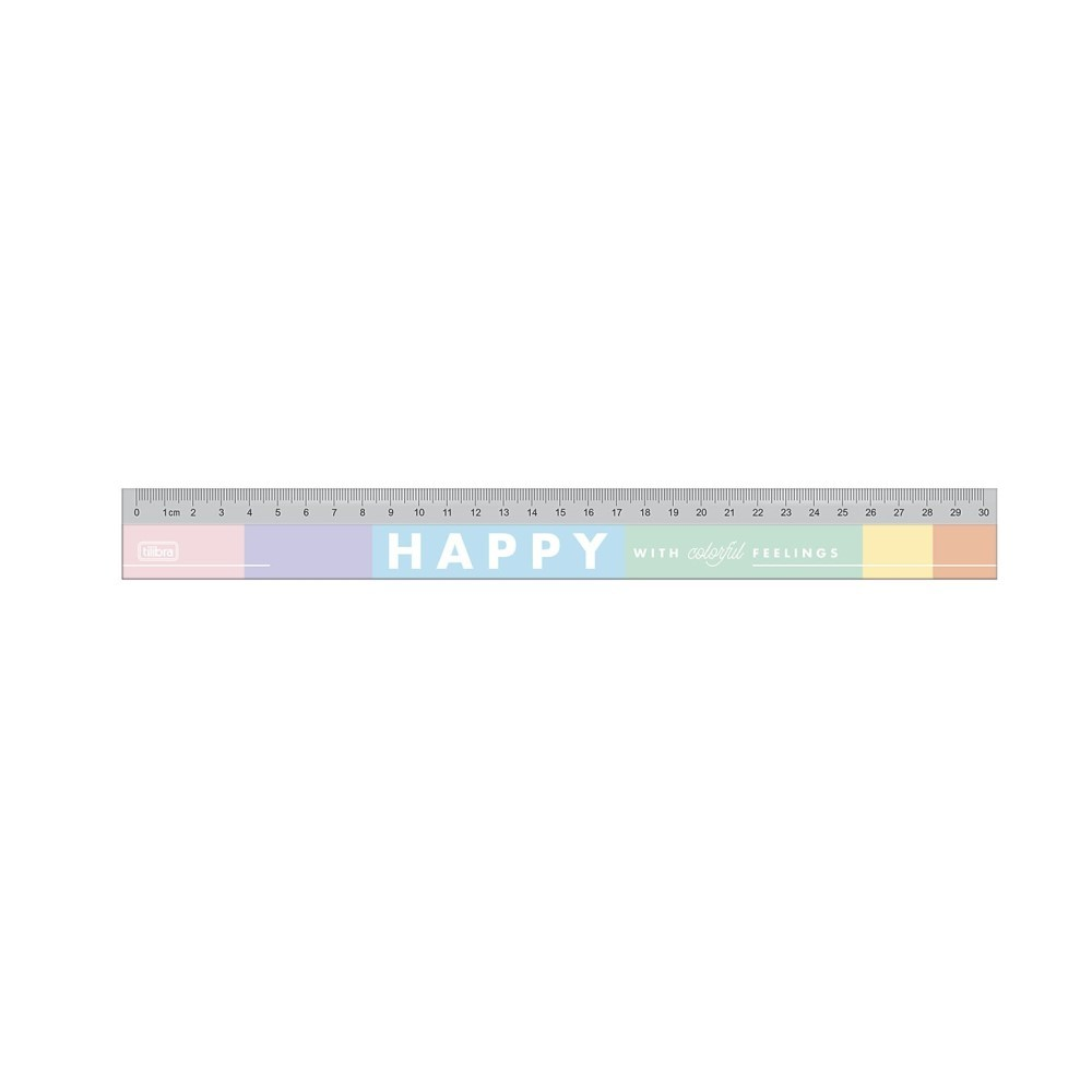 Régua Acrilica Happy 30 cm