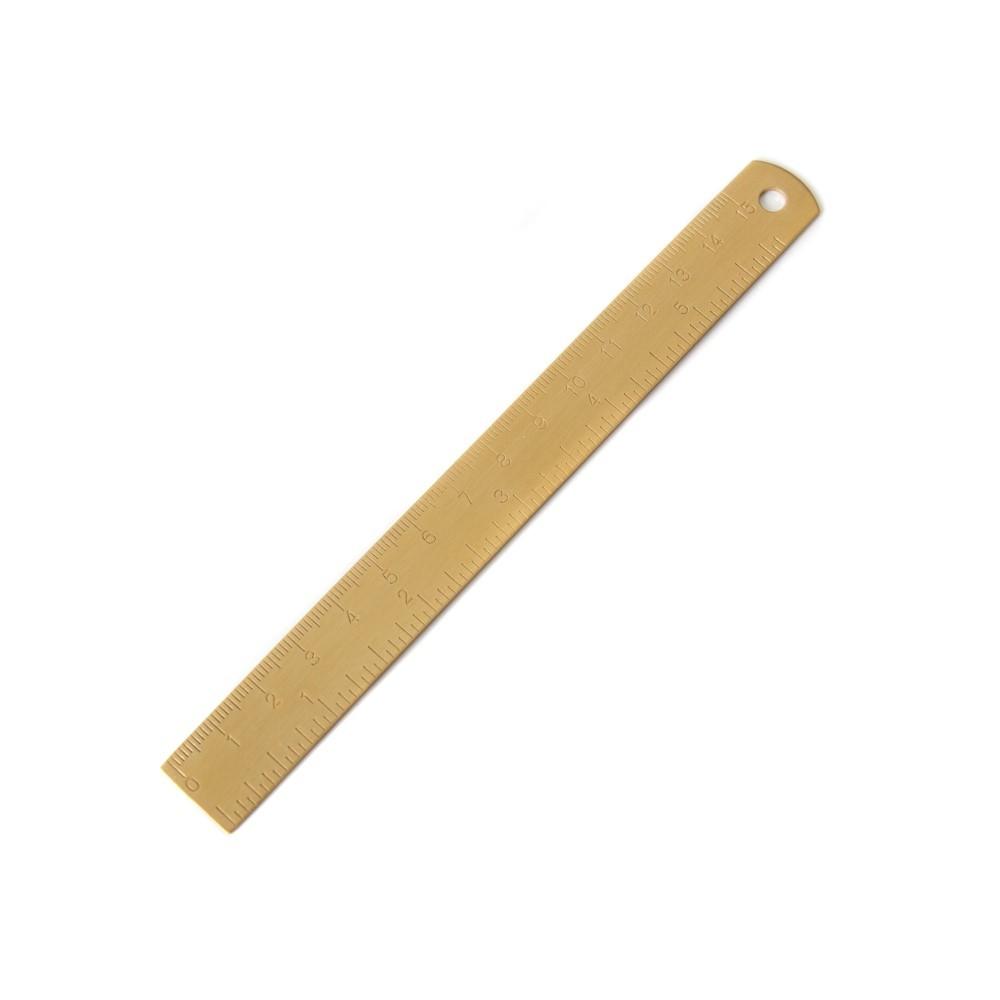 Régua Metal dourada