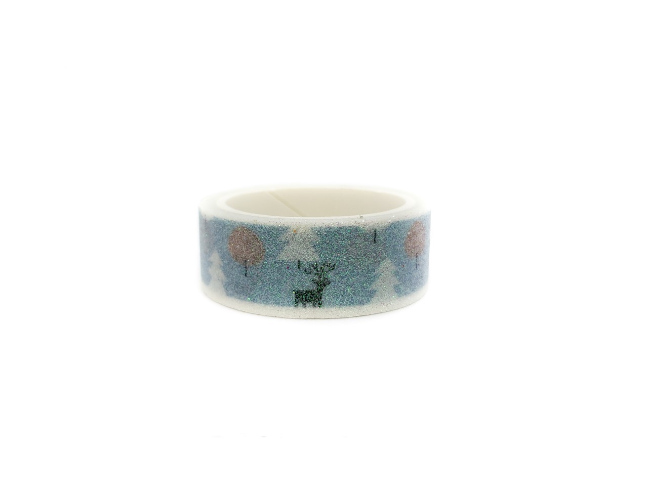 Washi tape Blue Snow com glitter