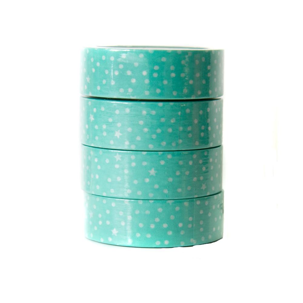 Washi Tape Bolinhas Verdes