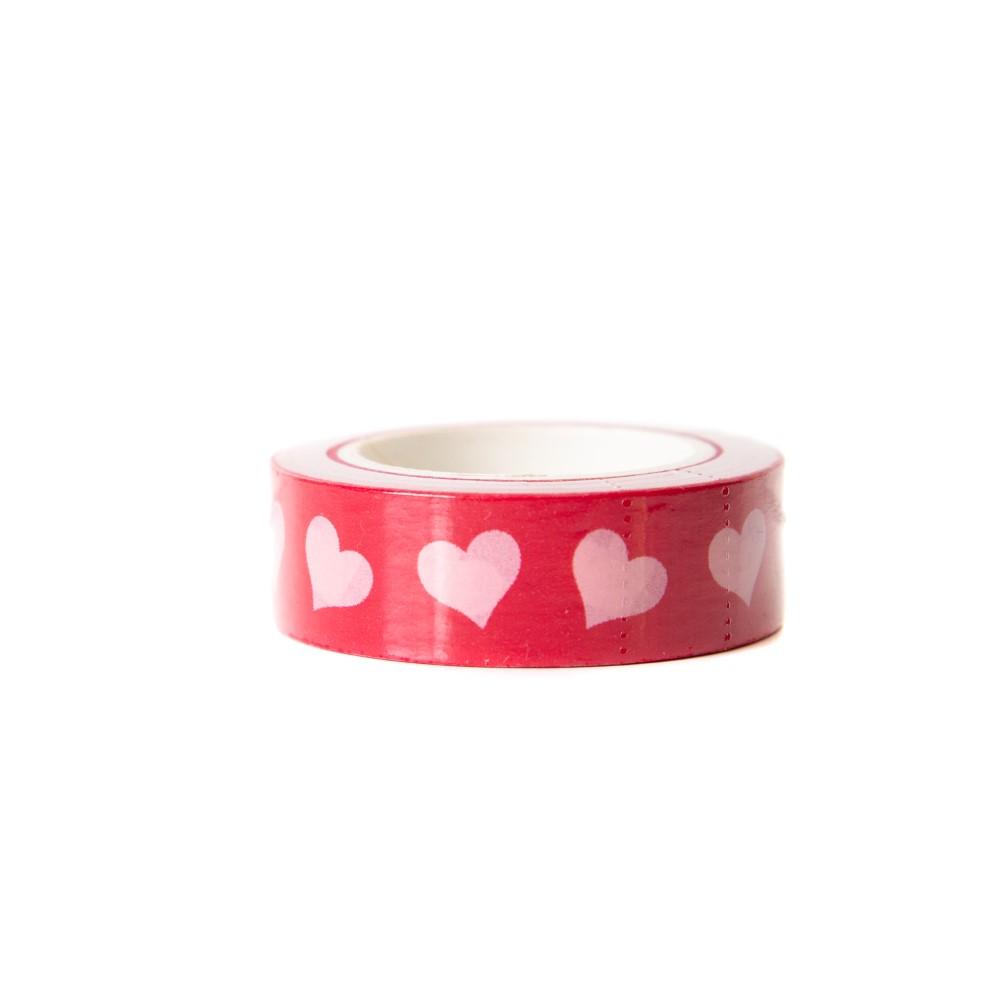 Washi Tape Corações Vermelhos