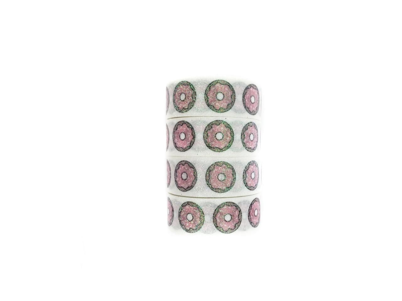 Washi tape Donuts com glitter