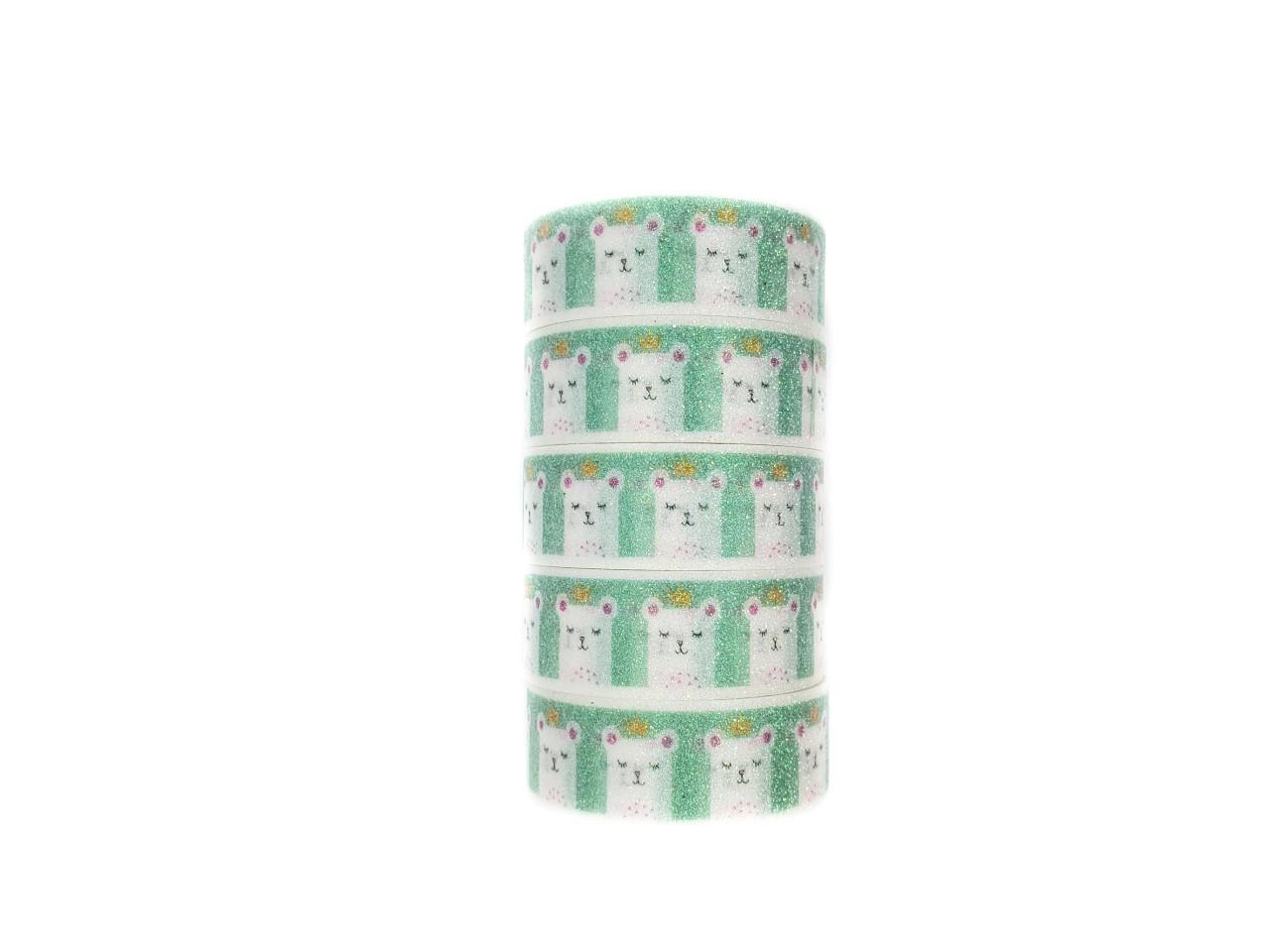 Washi tape Lhama com glitter