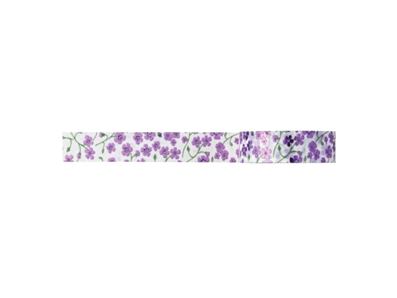 Washi Tape Love Floral Lilás