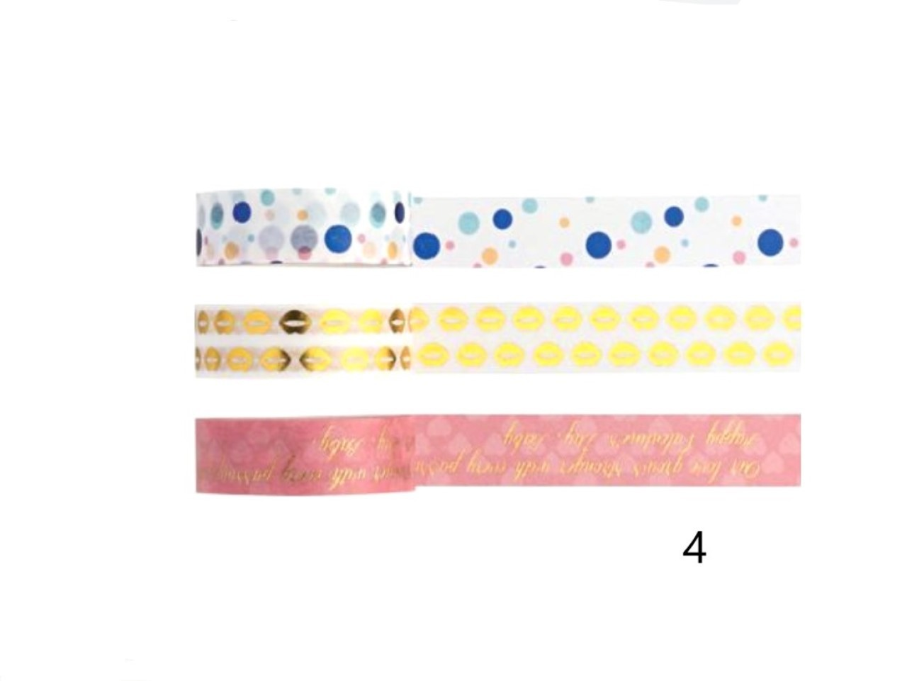 Washi Tape Love - Kit com 3 - 4