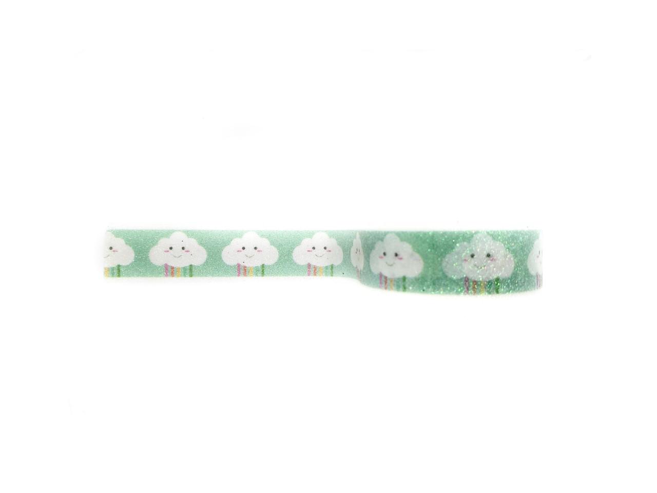 Washi tape Nuvem com glitter